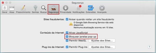 Projeto Web Site - Como Bloquear e Desbloquear Pop Up no Navegador Safari