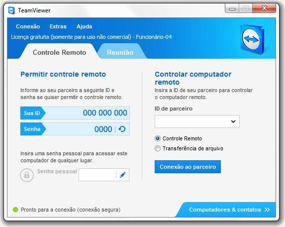 TeamViewer Para Uso Não Comercial - Projeto Web