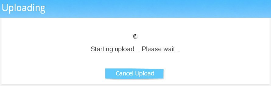 Upload Arquivo no Sendspace