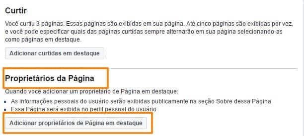 Tutorial de como adicionar proprietario em pagina em destaque do Facebook