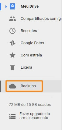 Como gerenciar backup no google drive