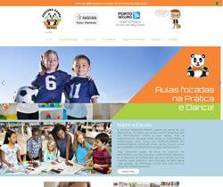 Criação de Web Escola Urso Panda