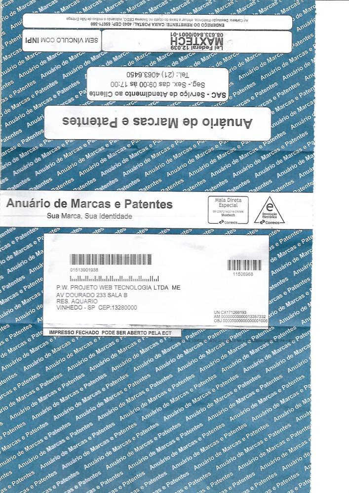 Boleto Malicioso de Renovação de Marcas e Patentes