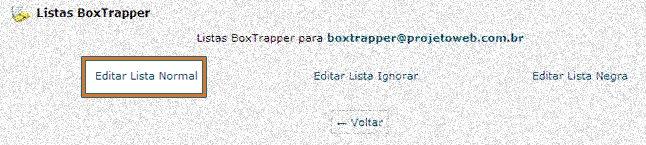 Bloquear E-mails - Box Trapper