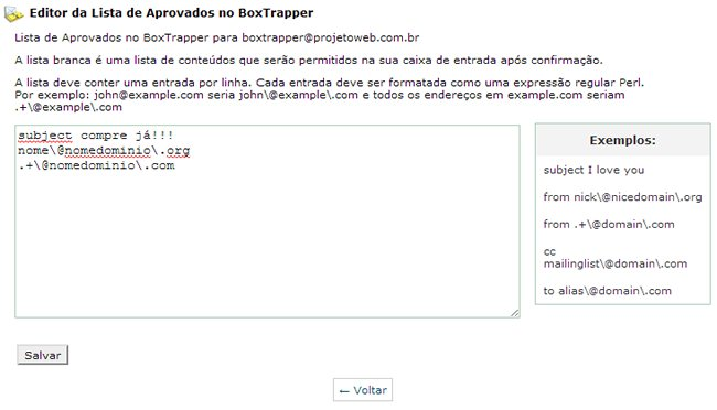 Bloquear Spam - Box Trapper