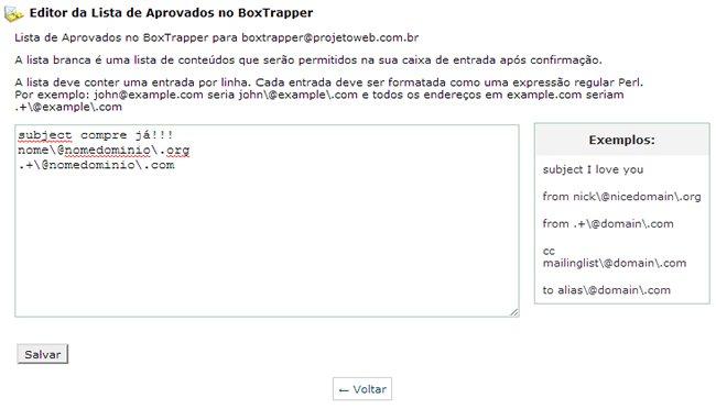 Bloquear Spam - Box Trapper
