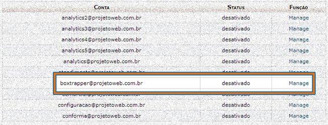 Boxtrapper Apagar E-mails