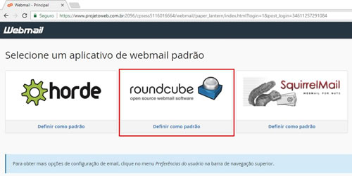 Como fazer login no Webmail