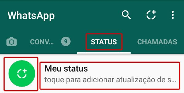 Alterar o Status com foto do Whatsapp
