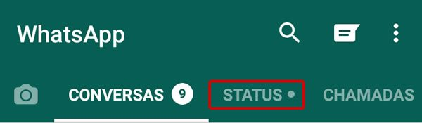 Como alterar o Status com foto do Whatsapp