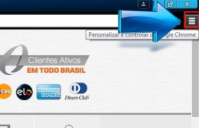 Clique sobre o icone no canto superior direito do google chrome