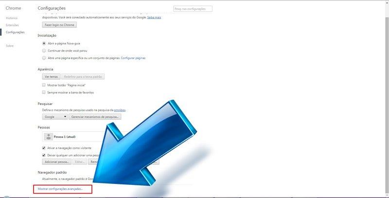 Configurar preenchimento automático do Google Chrome