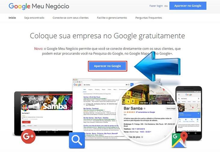 Meu Negócio aparecer no Google
