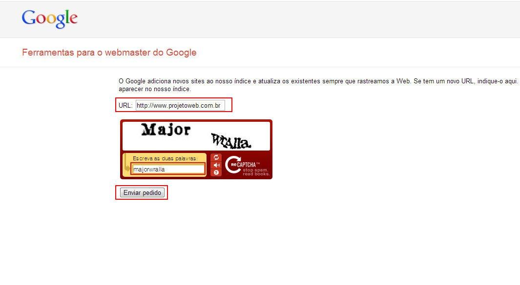 Cadastrar seu Site no Google