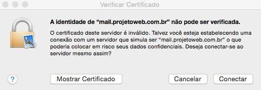 Configuração de E-mail Mail Mac
