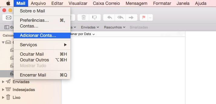 Configuração de E-mail Mac