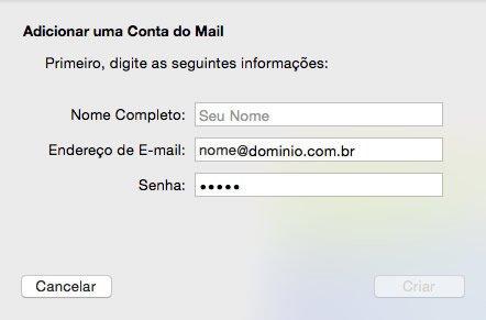 Configuração de E-mail MacBook