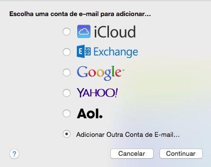 Configuração de E-mail Macintosh