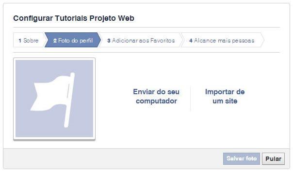 Criação de Páginas no Facebook