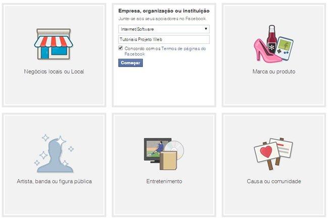 Tutorial Projeto Web - Criar uma Página no Facebook