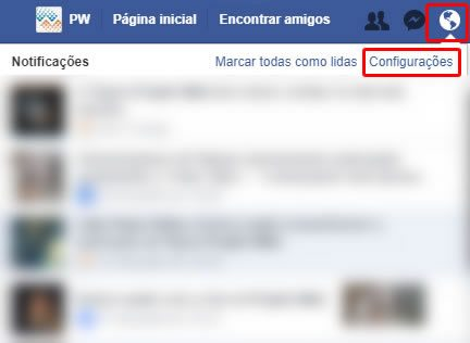 Como desativar notificações do Facebook