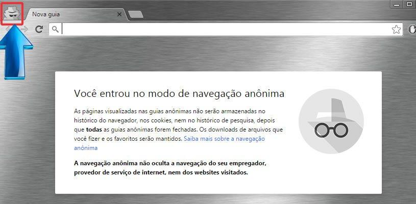 Google Chrome em Janela Anônima