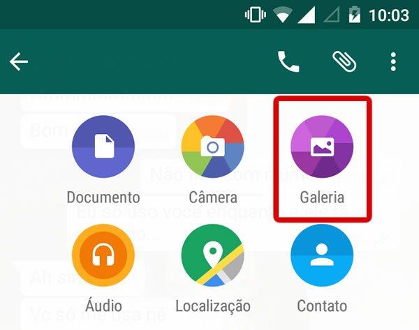 Como enviar GIF pelo Whatsapp