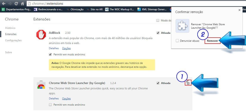 Localizar e Remover Extensões no Navegador Google Chrome
