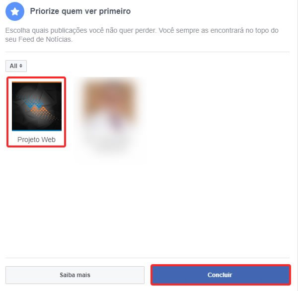 Filtrar o feed de notícias do Facebook