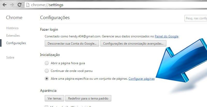 Abrir as Páginas que mais Gosto no Google Chrome