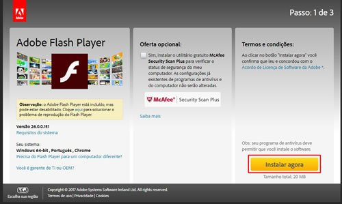 Como Instalar o Adobe Flash Player