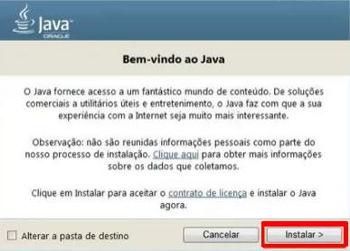 Fazer instalação do Java no computador
