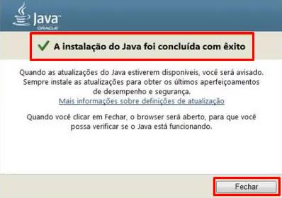 Realizar instalação do Java