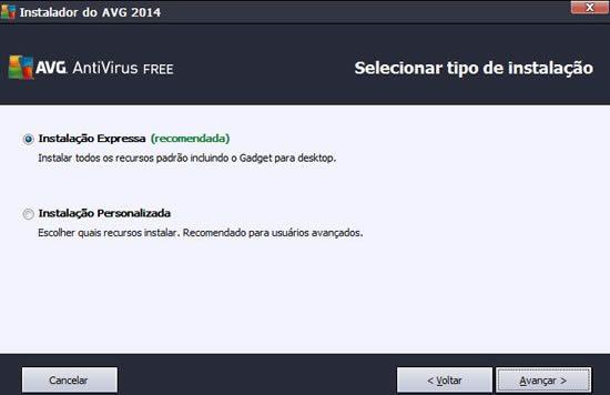 AVG Free Antivirus - Projeto Web
