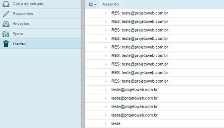 Como esvaziar a caixa de entrada do Webmail
