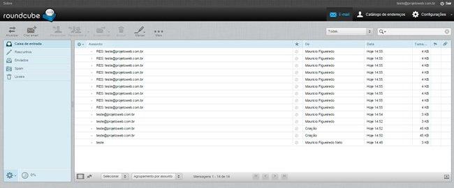Limpar caixa do Webmail Cheia