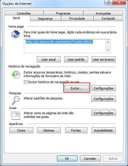 Como Limpar Cookies do Navegador Internet Explorer