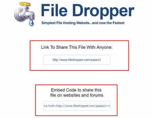 Como fazer upload de arquivos no File Dropper