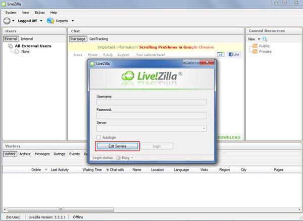 Chat no Livezilla