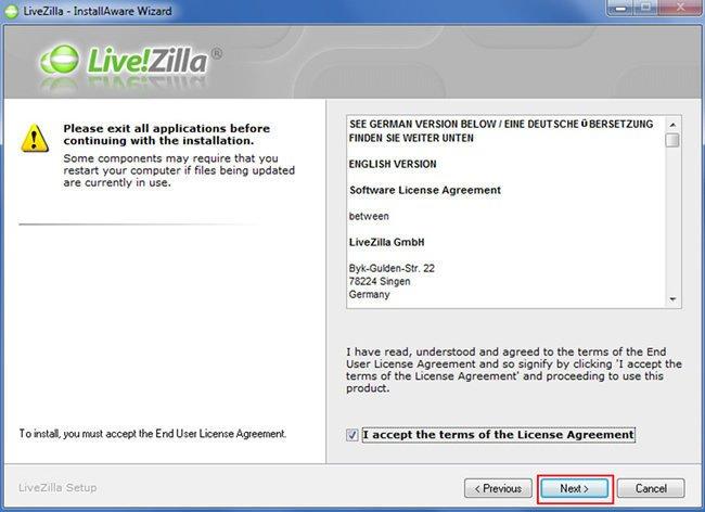 Configurar Chat LiveZilla