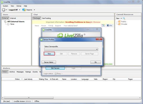 Configurar Chat Online
