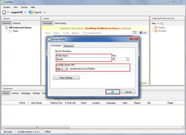 Configurar Chat