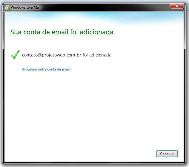 Configurar Conta de Email no Windows Live