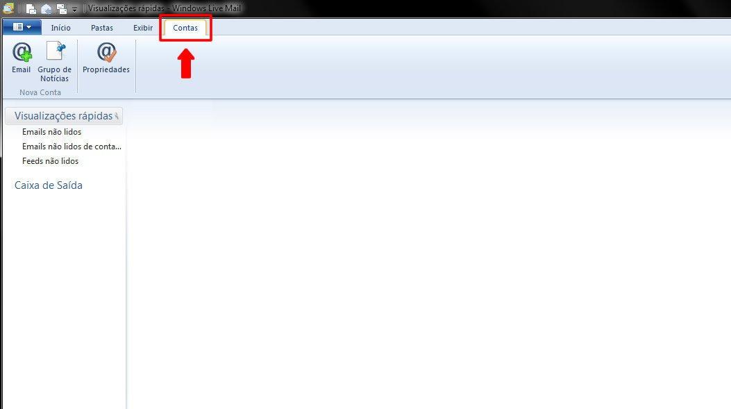 Configurar Conta de Emails no Windows Live Mail