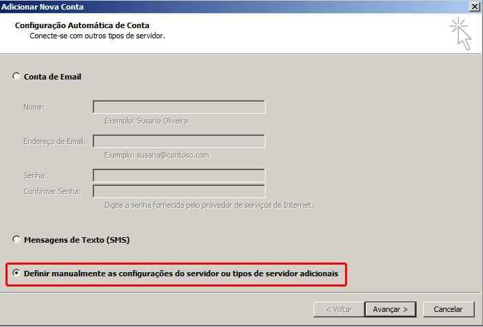 Configurar Email Microsoft Outlook 2010