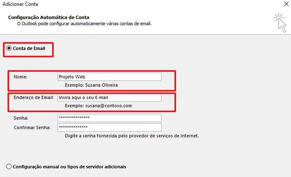 Configurar Email Microsoft Outlook 2016