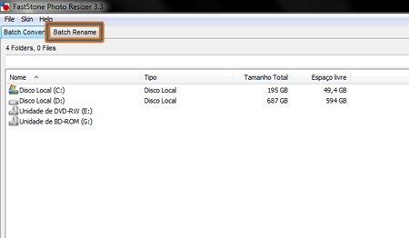 renomear vários arquivos simultaneamentes