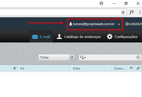 Trocar a Senha do Webmail